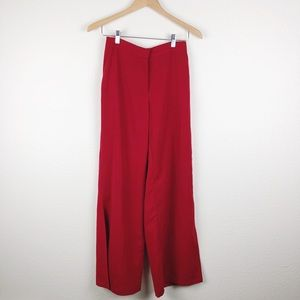 Mossimo Red Wide Leg Flowy Pants